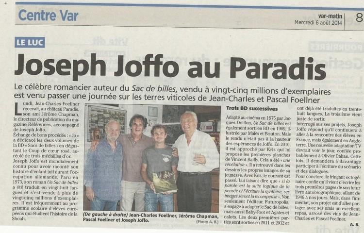 Joseph Joffo - écrivain - Sac de Bille
