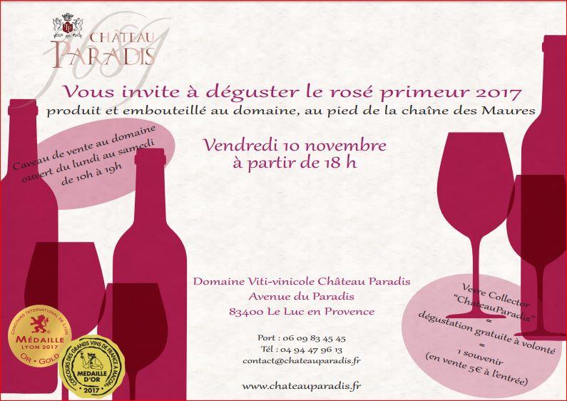 Dégustation du vin rosé primeur 2017